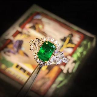 乙女な1.37ct天然エメラルド指輪(リング(指輪))