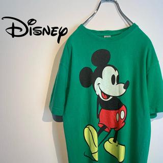 ディズニー(Disney)の【希少】ディズニー《Disney》デカロゴ  ミッキー Tシャツ(Tシャツ/カットソー(半袖/袖なし))