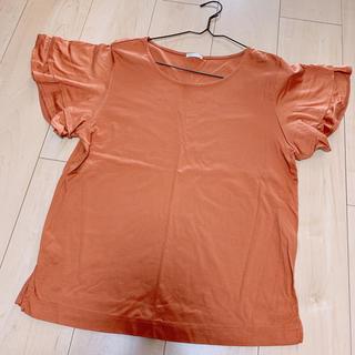 ジーユー(GU)のGU フリルトップス(シャツ/ブラウス(半袖/袖なし))