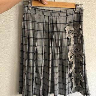 ミキオサカベ(MIKIO SAKABE)のmikiosakabe プリーツリボンスカート(ひざ丈スカート)