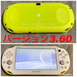 PlayStation Vita - vita 3.60 ライムグリーン 送料無料 ②