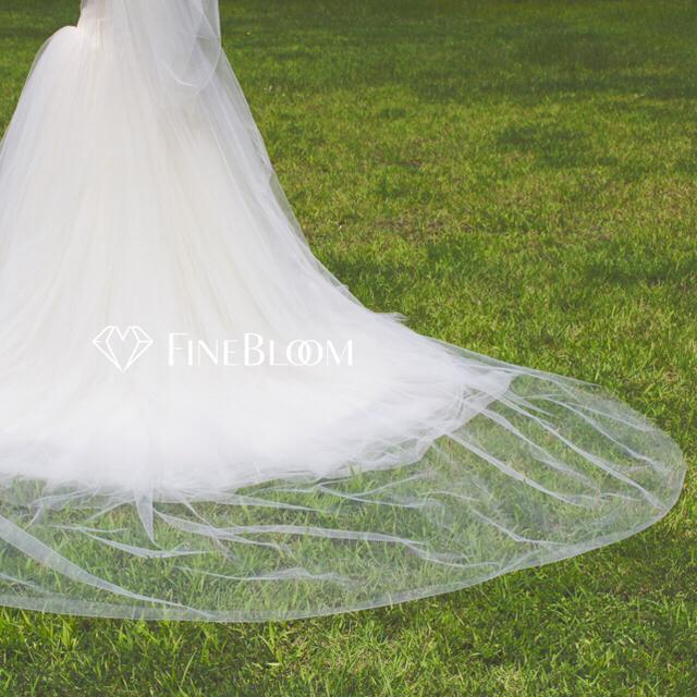 *3m幅* 三段ベール ロングべール 3m ワイドベール ウェディングベール ハンドメイドのウェディング(ヘッドドレス/ドレス)の商品写真