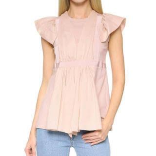 ヌメロヴェントゥーノ(N°21)のN°21 ヌメロヴェントゥーノ フリル ブラウス トップス Tシャツ(Tシャツ(半袖/袖なし))