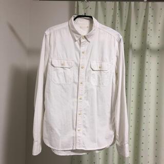 GU - GU 白 シャツ 長袖シャツ S