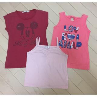 アナップキッズ(ANAP Kids)のキッズ ANAP UNIQLO タンクトップ シャツ 3個セット(Tシャツ/カットソー)