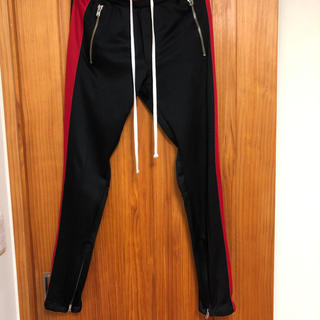 FEAR OF GOD - mnml track pants black red XS