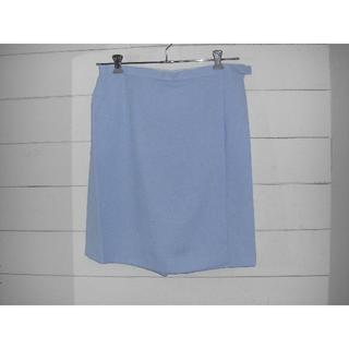 【新品展示品】ウエスト80 ライトブルー キュロットスカート XLサイズ(キュロット)
