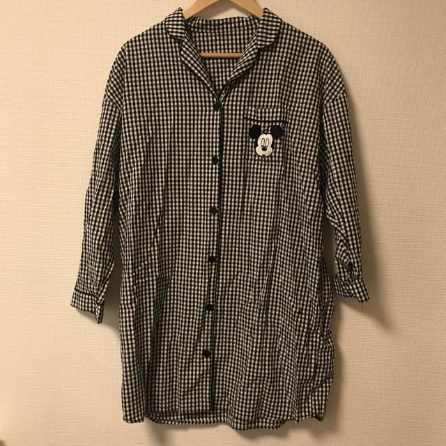 GU(ジーユー)のGU ミッキー ギンガムチェック パジャマ XL レディースのルームウェア/パジャマ(パジャマ)の商品写真