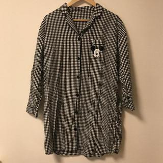 ジーユー(GU)のGU ミッキー ギンガムチェック パジャマ XL(パジャマ)