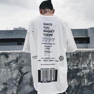 韓国ファッションバーコードTシャツ(Tシャツ(半袖/袖なし))