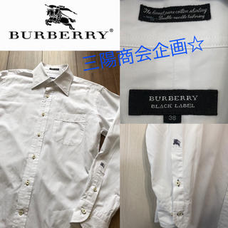 BURBERRY BLACK LABEL - 早い者勝ち☆バーバリー ブラック 袖刺繍 100/2 シャツ