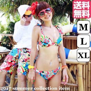 【XL】アメコミ柄 ビキニ ポップ スイムウェア デザインレディース 水着(水着)