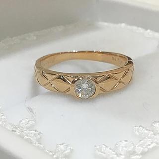 K18ピンクゴールド ダイヤ リング(リング(指輪))