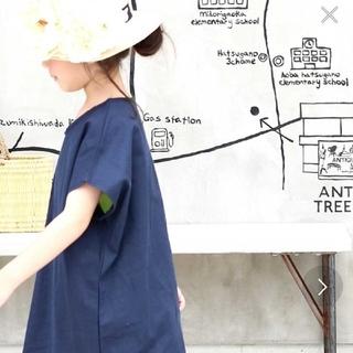 アンティカ(antiqua)のantique(アンティカ)Vネックシンプルロングトップス 120(Tシャツ/カットソー)