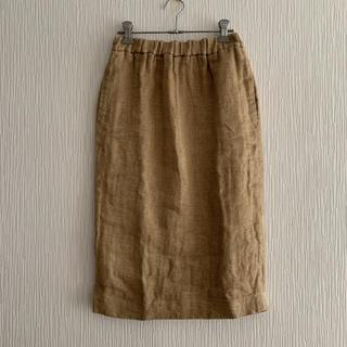 デミルクスビームス(Demi-Luxe BEAMS)のDemi-Luxe BEAMS リネンタイトスカート(ひざ丈スカート)