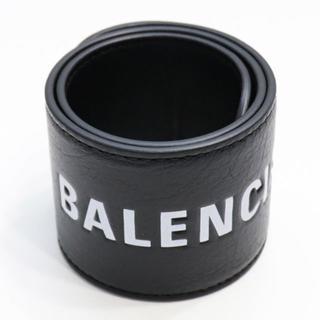 バレンシアガ(Balenciaga)の新品 バレンシアガ サイクル ブレスレット レザー バングル リストバンド ロゴ(ブレスレット/バングル)