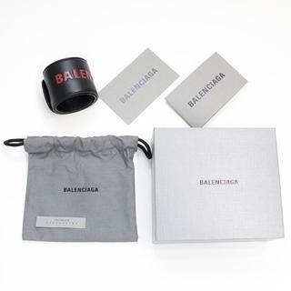 バレンシアガ(Balenciaga)の新品 バレンシアガ ブレスレット バングル リストバンド ブラック ルビーレッド(ブレスレット/バングル)