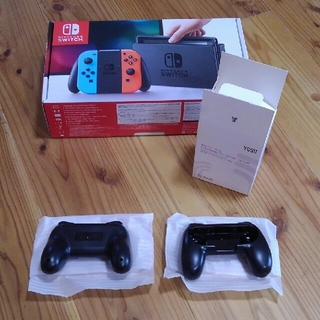 Nintendo Switch - Joy-Conハンドル付 ニンテンドー スイッチ ブルー/レッド Switch