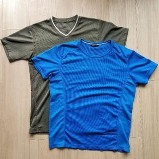 ユニクロ(UNIQLO)の◆Tシャツ ドライ S 2枚 メンズ ユニクロ(Tシャツ/カットソー(半袖/袖なし))