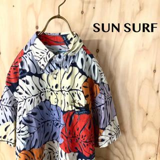 サンサーフ(Sun Surf)の【美品】SUN SURF マルチカラー 総柄 BDプルオーバーアロハシャツ 東洋(シャツ)
