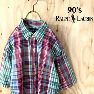 Ralph Lauren - 【美品】90's ラルフローレン BDシャツ AWトレンド タータンチェック