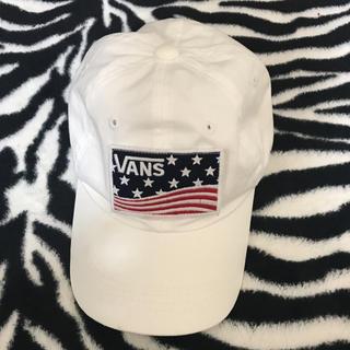 ヴァンズ(VANS)のバンズ キャップ 白キャップ(キャップ)
