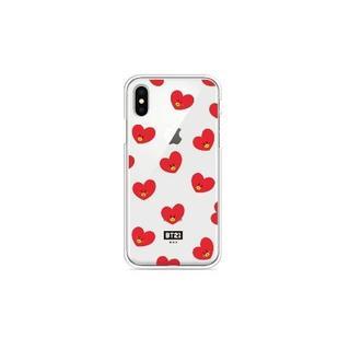 ボウダンショウネンダン(防弾少年団(BTS))のBT21 クリア ゼリーケース iPhoneX TATA V タタ テヒョン(iPhoneケース)