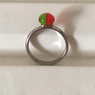ガラス玉 リング(リング(指輪))