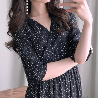 dholic - ドット ロングワンピース 韓国ファッション