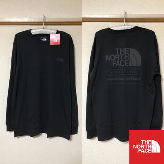 THE NORTH FACE - 【新品】THE NORTH FACE トップス Tシャツ 背面ロゴ 黒 L