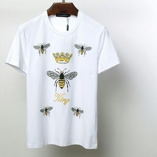 DOLCE&GABBANA -  みつばちTシャツ ホワイトD&G ドルチェ&ガッバーナ