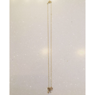 カオル(KAORU)のお値下げ アトリエカオル K18 リボンネックレス(ネックレス)