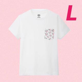 UNIQLO - 送料無料 新品 カウズ  ユニクロ コラボTシャツ 人気 限定品 メンズ L