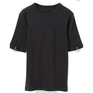 UNIQLO - リブ Tシャツ 五分袖 Mサイズ