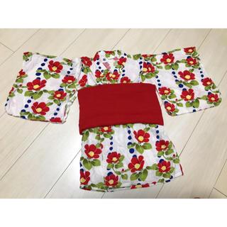 フタフタ(futafuta)の浴衣 浴衣ドレス 甚平 女の子 花柄(甚平/浴衣)