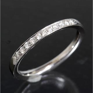 ヨンドシー(4℃)の4℃ ダイヤモンド 11P エタニティ リング 10号 K18WG 新品仕上済(リング(指輪))