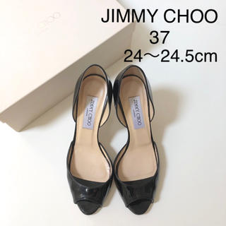 JIMMY CHOO - 美品 ★ ジミーチュウ オープントゥパンプス ★ サンダル