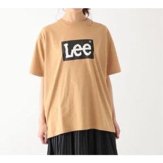 Lee - ベージュ LEE ロゴTシャツ オーバーシルエット