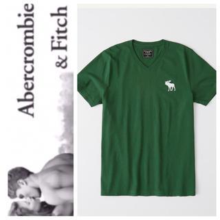 アバクロンビーアンドフィッチ(Abercrombie&Fitch)の◎S◎新品正規品◎アバクロ◎ビックアイコンVネックTシャツ◎送料込(Tシャツ/カットソー(半袖/袖なし))