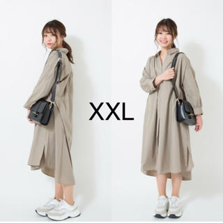 GU - Aラインシャツワンピース XXL 完売商品