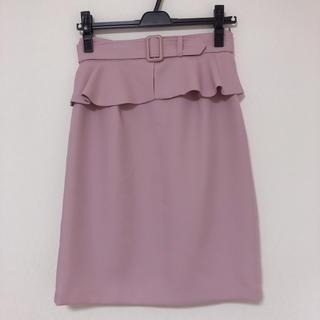 MISCH MASCH - ミッシュマッシュ ペプラムスカート ピンク