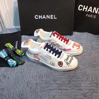 シャネル(CHANEL)のCHANEL人気のカジュアルシューズレディーズサイズ22.5cm(スニーカー)