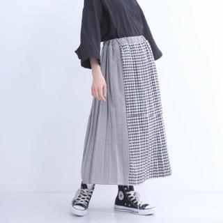 メルロー(merlot)のチェックプリーツスカート(ロングスカート)