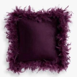 ZARA HOME - 新品 ZARA HOME ザラホーム フェザー クッション バイオレット 紫
