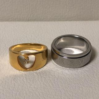 1064 シルバーゴールドリング2点セット(リング(指輪))