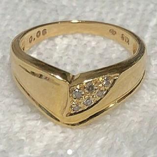K18 ダイヤリング  指輪