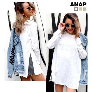 ANAP - ANAP サイドスリットスラブロングTシャツ