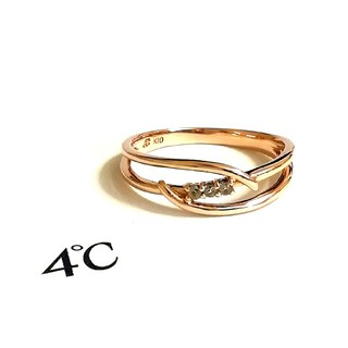 4℃ - 4°C K10 ダイヤモンドリング 9.5号