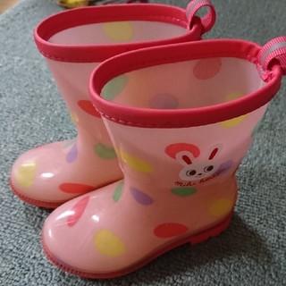 ミキハウス(mikihouse)のミキハウス うさこドットピンク長靴 14㎝(長靴/レインシューズ)