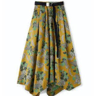 アメリヴィンテージ(Ameri VINTAGE)のAmerivintage ベリージャガードベルトスカート(ひざ丈スカート)